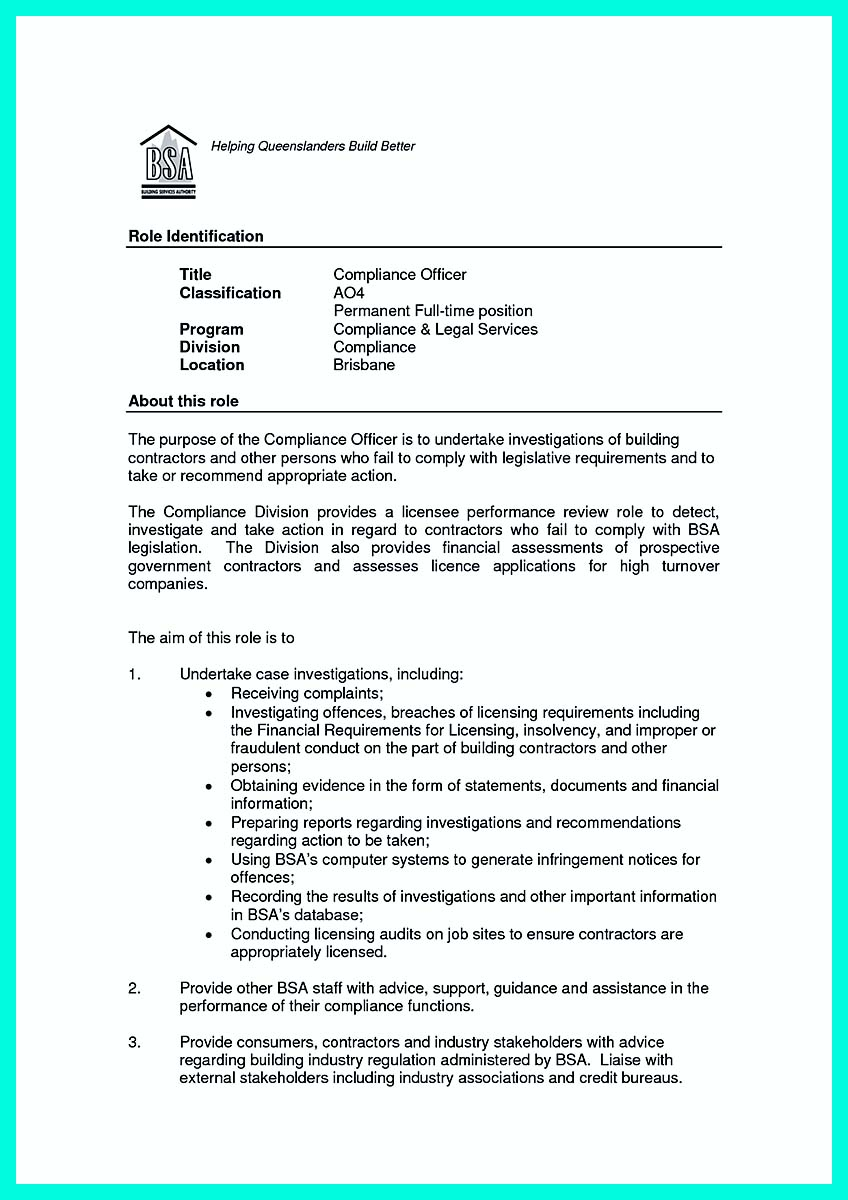best compliance officer resume to get manager 39 s attention how to