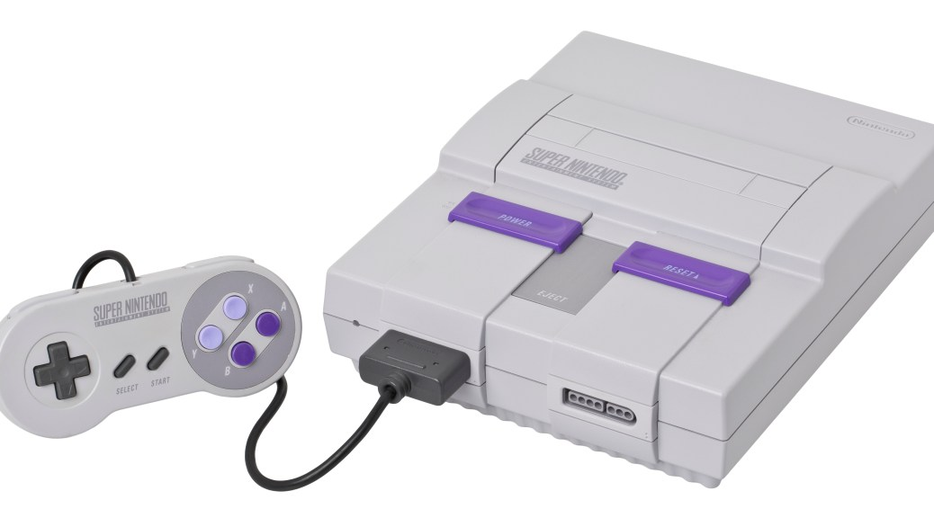 Super Nintendo with Controller