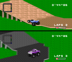 There are different kinds of terrain to race on