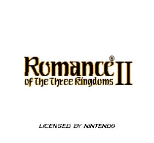 Romance of the Three Kingdoms II 01