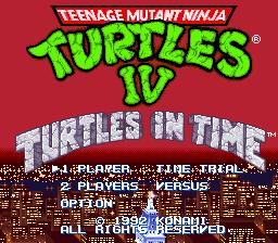 Teenage Mutant Ninja Turtles IV - Turtles in Time 01