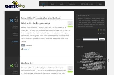 SnettsBlog as displayed on Firefox 4.0