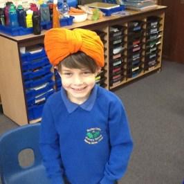 Tyring on turbans