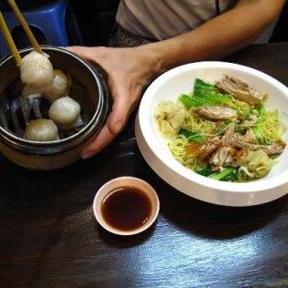 Chinese dumplings, Chinatown in Bangkok, Thailand