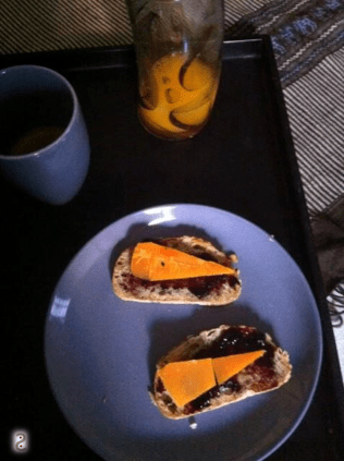Coffee, jam and mimolette http://wp.me/p3iY4S-6U