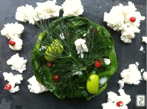 Spinach leaves, emadame, aneth, pink pepper and airy feta http://wp.me/p3iY4S-dM