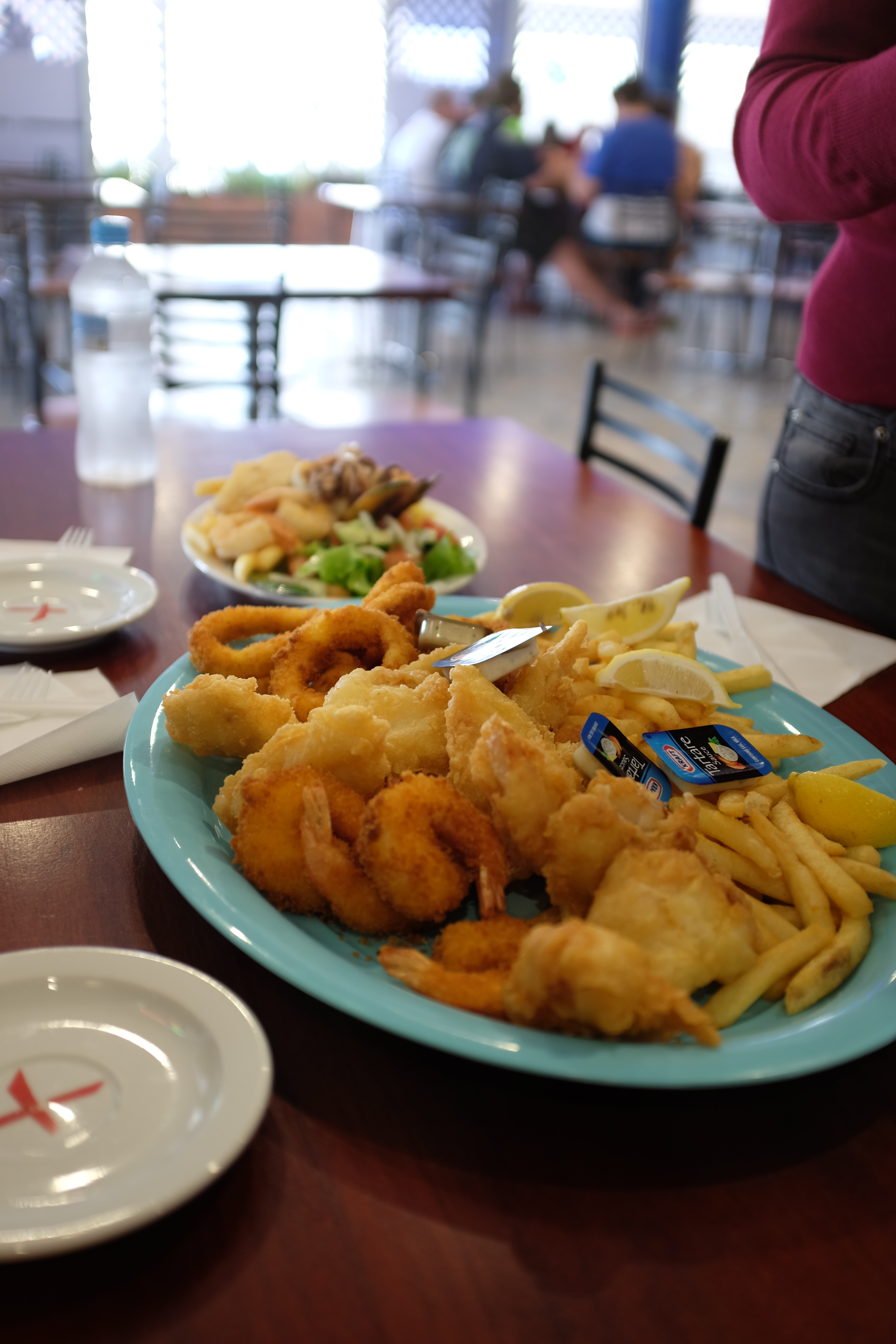 Family seafood platter and grilled seafood platter for lunch!
