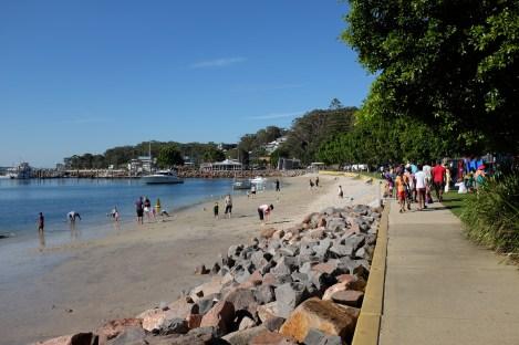 d'Albora Marinas in the centre of Nelson Bay, Port Stephens, NSW, Australia