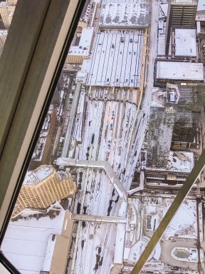 Views from CN Tower_Overlooking the Union Station_Toronto