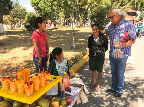 Lady Selling Mango Huejotzingo Puebla Mexico