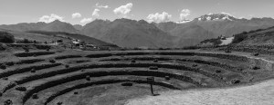 Circular terraces of Moray Sacred Valley Peru