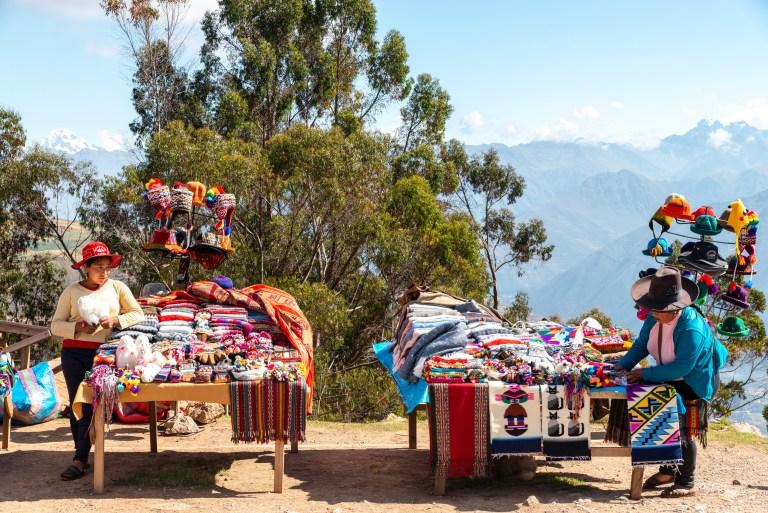 Viewing Site near Urubamba Sacred Valley Peru