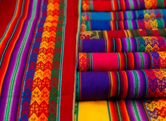 Pisac Market_Colourful Textile_1-3