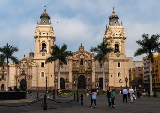 Lima's Cathedra Plaza de Armas Lima Peru