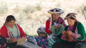 Peruvian Family at Huito Peru