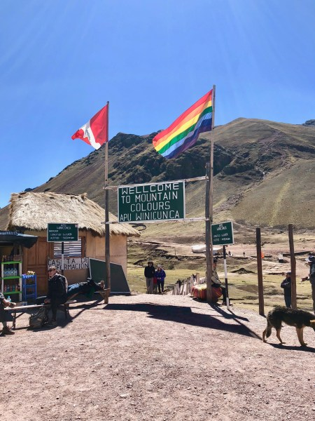 The Ausangate Rainbow Mountains of Peru Bus Stops