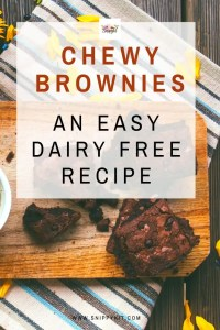Simple, Chewy Dairy Free Brownies