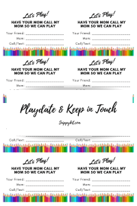 FREE Keep in Touch Printable