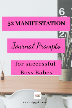 Get to know yourself better by journal for manafestation! Grab the free printable to start your 52 weeks of self-discovery now & unlock your potential.