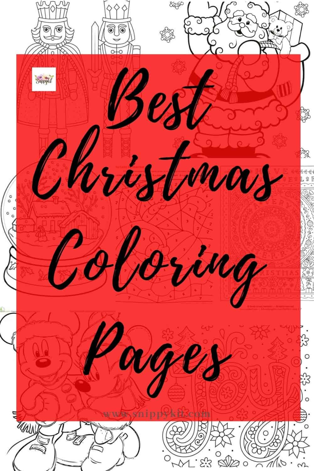 20+ FREE Printable Christmas Coloring Pages for Adults & Kids – something for everyone! Christmas trees, presents, Mickey Mouse, Santa Claus, and more!