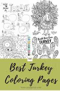 Festive Free Turkey Coloring Pages Printable
