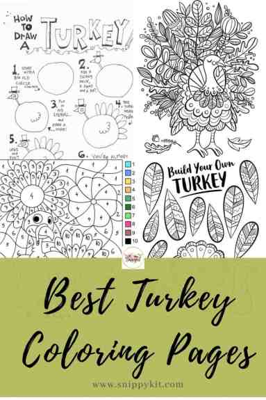 Find free, printable turkey coloring pages for preschoolers, elementary-aged kids, and even older kids or adults.