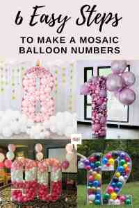 How to Make a Mosaic Balloon Number in 6 Easy Steps
