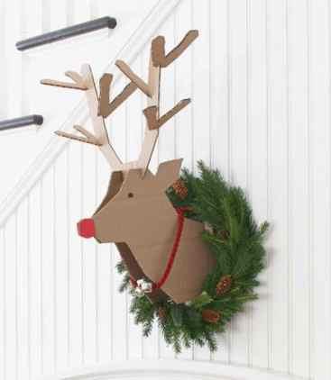cardboard reindeer christmas craft for anyone