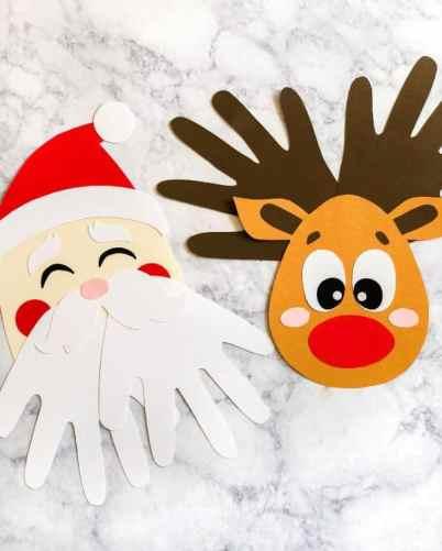 handprint santa christmas craft