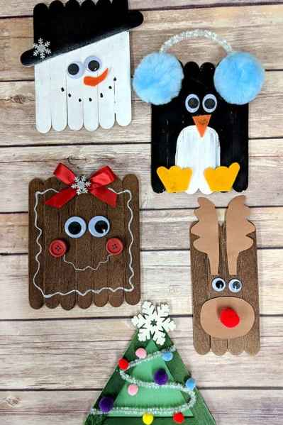 christmas popsicle stick craft