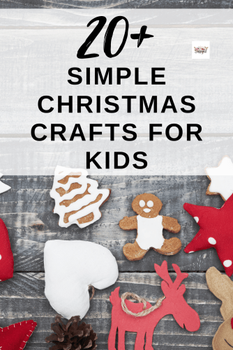 over 20 simple christmas crafts for kids