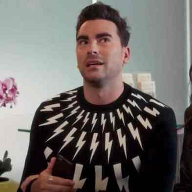 David rose lightning bolt sweater