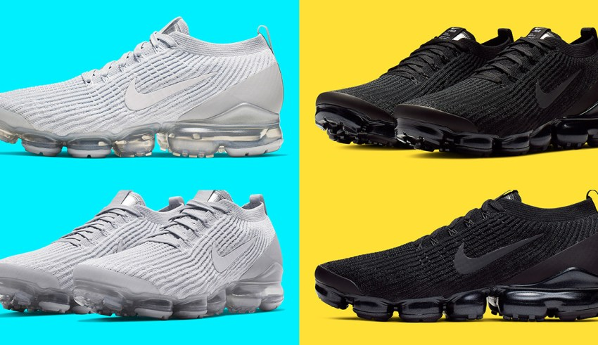 """detailed look ca3e1 a3039 Nike VaporMax Flyknit 3.0 สี """"Triple Black"""" และ """"Pure ..."""