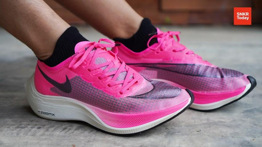 แกะกล่อง พรีวิว Nike ZoomX Vaporfly NEXT% สีชมพู Pink Blast