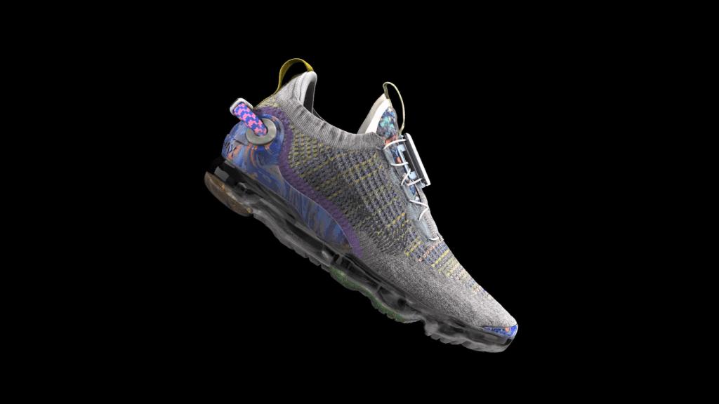 Nike Air VaporMax 2020 Flyknit เป็นหนึ่งในรองเท้าของไนกี้ที่พัฒนาโดยเน้นเรื่องความยั่งยืนมากที่สุดรุ่นหนึ่งในปัจจุบัน มีการใช้วัสดุรีไซเคิลกว่าร้อยละ 50 ของน้ำหนัก