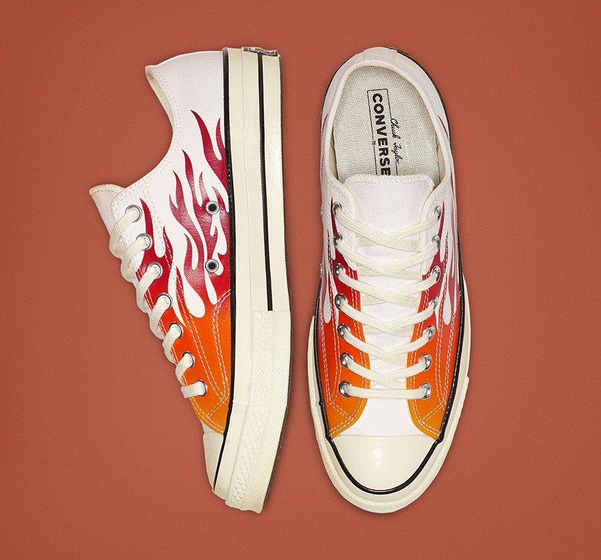 Converse brought the flame blade pattern back on to the Chuck 70 design