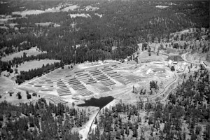 another aerial photo of mill