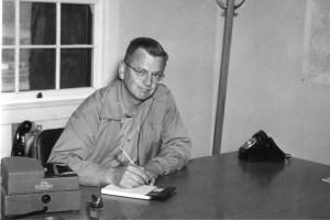 Howard Blagen at desk
