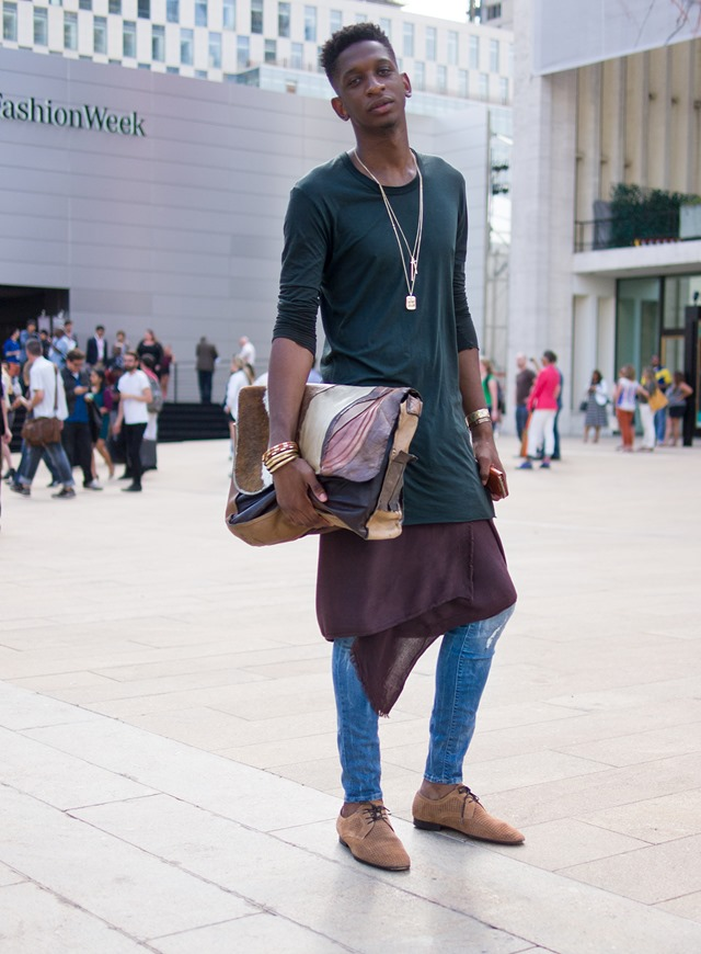 deconstruct outfit, New York Fashion Week S/S 2014 Street Style