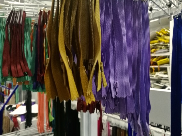 Zippers of every possible kind. Photo © Karethe Linaae