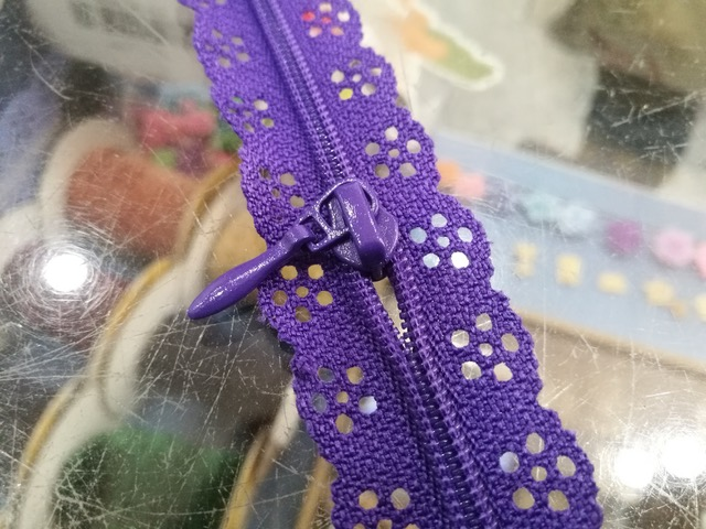 Where to find a purple doily zipper? Photo © Karethe Linaae