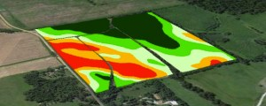 Photo 2. Example of a zone map derived from drone imagery or combination of drone imagery and yield map overlay.