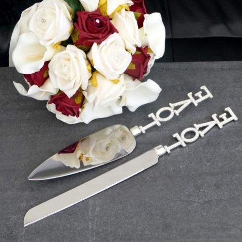 Engraved Cake Knife Set