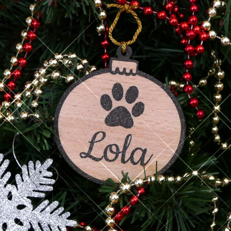Personalised Christmas Tree Baubles For Dogs Snobsgifts