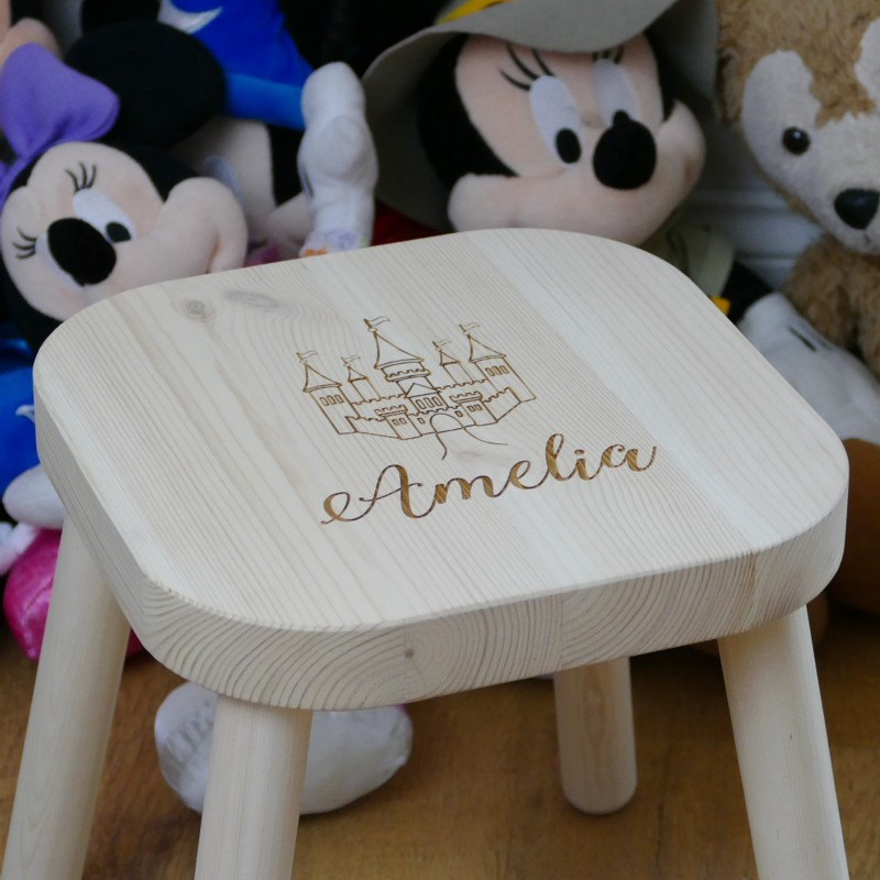 Super Personalised Childrens Stool Personalise With Childs Name Machost Co Dining Chair Design Ideas Machostcouk
