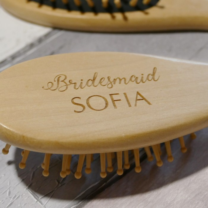 Personalised wooden Hair brush