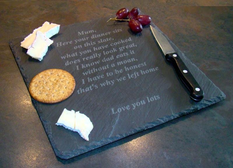 Personalised slate cheeseboard