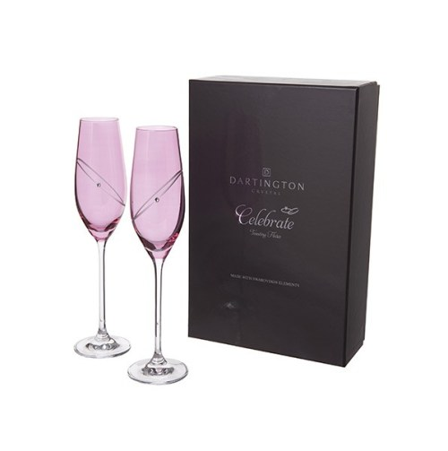 Personalised Ruby Champagne Flutes