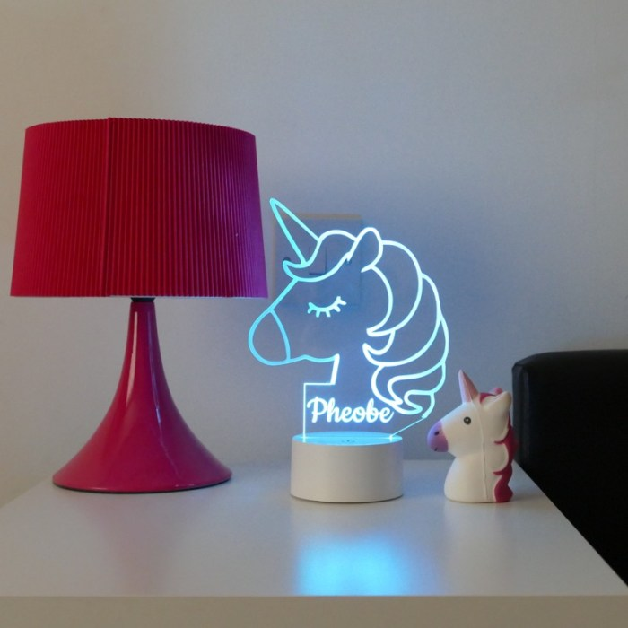 low light personalised unicorn light