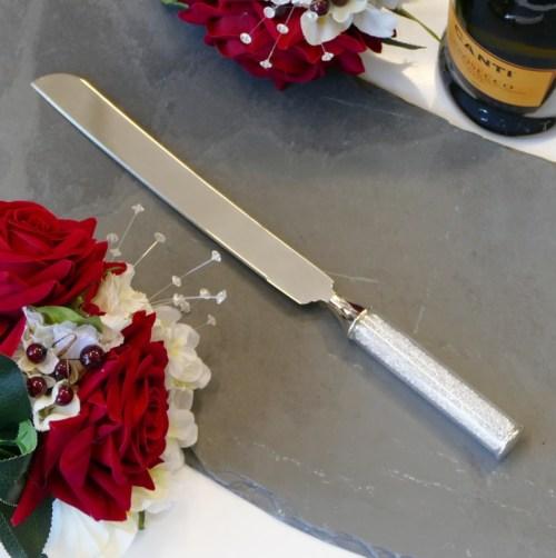 Diamante Handle Cake Knife